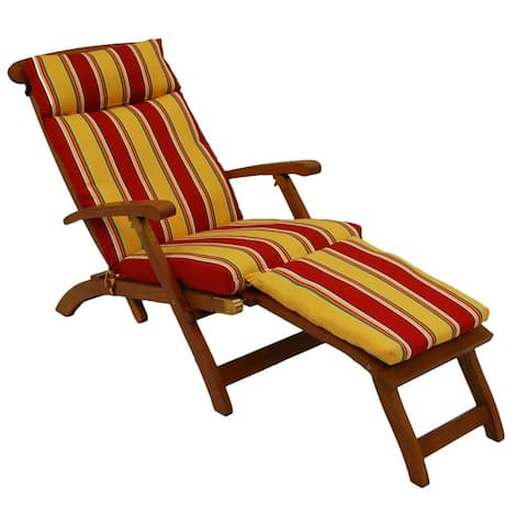 Blazing Needles All-Weather Outdoor Steamer Lounger Cushion