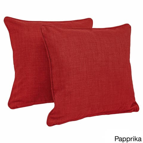 Blazing Needles 17 Inch Indoor Outdoor Throw Pillow Set Of 2