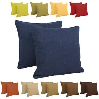 """Blazing Needles 17-inch Indoor/Outdoor Throw Pillow (Set of 2) - 20"""" x 20"""""""