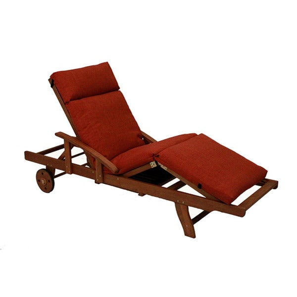 Blazing needles solid all weather 3 section outdoor chaise for Blazing needles chaise cushion