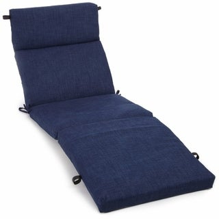 Blazing Needles Solid All-weather 3-section Outdoor Chaise Lounge Cushion