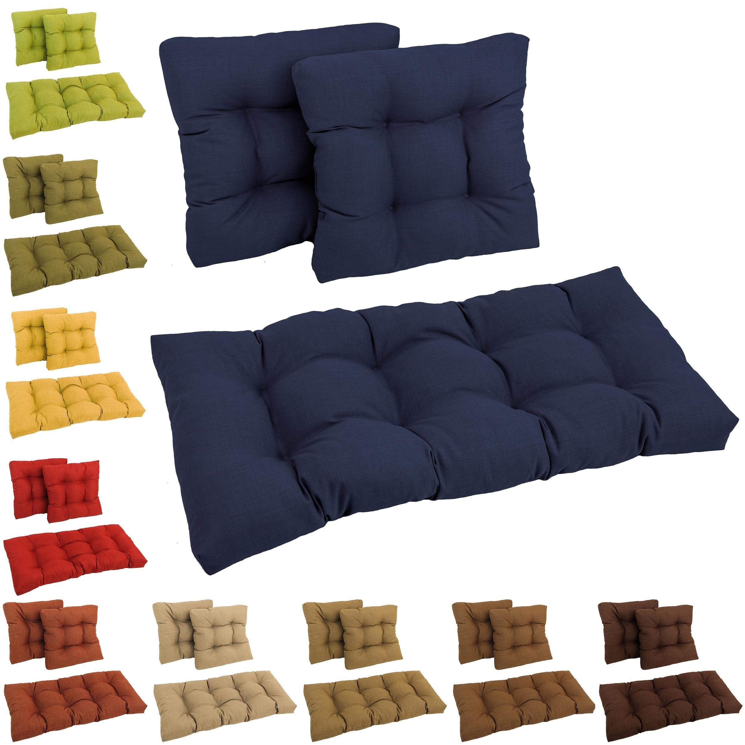 Blazing Needles All Weather 3 Piece Indoor Outdoor Bench Cushion Set On Sale Overstock 5743261