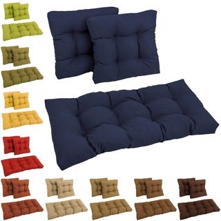 Blazing Needles All-Weather 3-Piece Indoor/Outdoor Bench Cushion Set