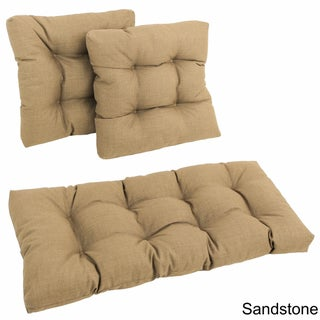 Blazing Needles All-Weather 3-Piece Indoor/Outdoor Bench Cushion Set