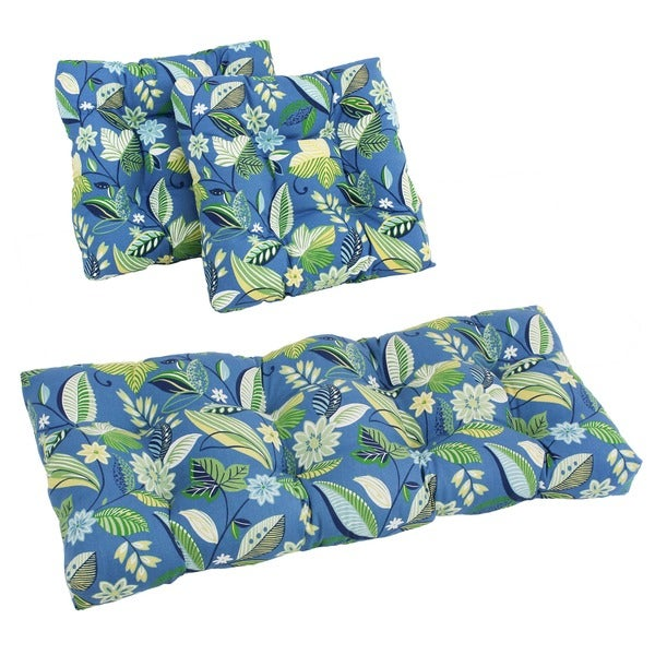 Set of Three All-Weather UV-Resistant Squared Outdoor Sewn Settee Group Cushions