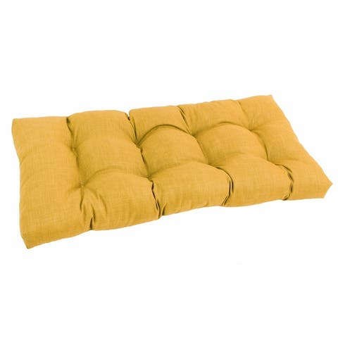 Blazing Needles All-Weather 42-inch Solid Bench Cushion
