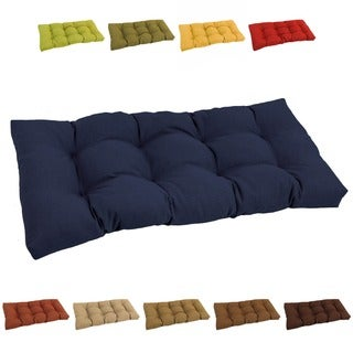 Blazing Needles All-weather 42-inch Solid Tufted Outdoor Bench Cushion