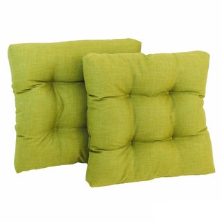 All-Weather Solid-Colored Square Outdoor Chair Cushions (Set of Two)