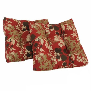 All-Weather Patterned Square Outdoor Chair Cushions (Set of Two)