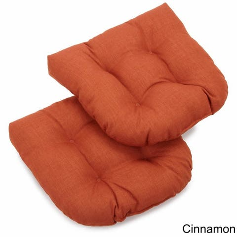 Blazing Needles 19-inch All-Weather Chair Cushions (Set of 2)