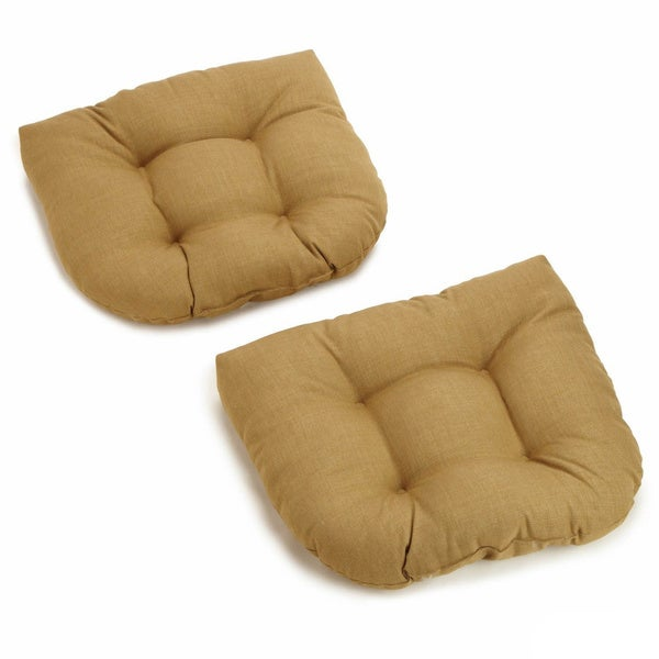 All Weather UV Resistant U Shaped Outdoor Chair Cushions (Set Of 2)   Free  Shipping Today   Overstock.com   13475066