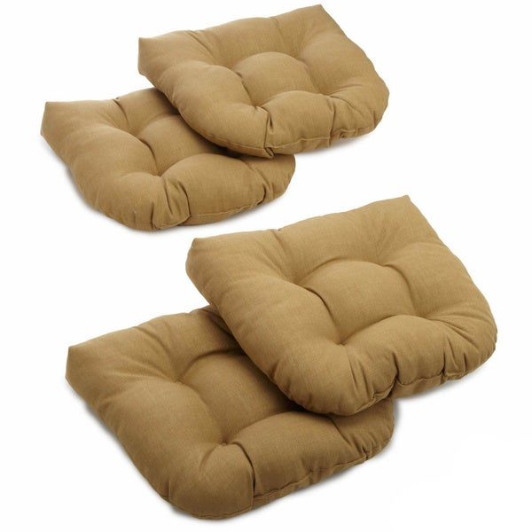 Delightful Blazing Needles 19 Inch All Weather U Shaped Outdoor Chair Cushion (Set Of  4)   Free Shipping Today   Overstock.com   13475070