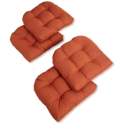 """Blazing Needles 19-in. Indoor/Outdoor Chair Cushions (Set of 4) - 19"""" x 19"""""""