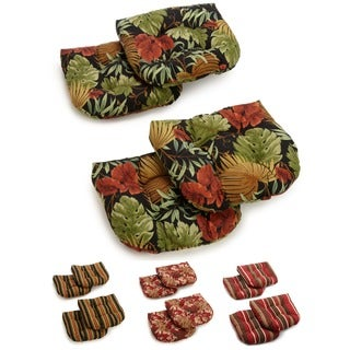 Blazing Needles All-weather U-shaped Outdoor Chair Cushions (Set of 4)