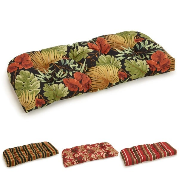 All-weather U-shaped Outdoor Settee Polyester Bench Cushion