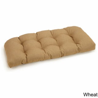 Blazing Needles All-Weather 42-inch Tufted Solid Bench Cushion (More options available)