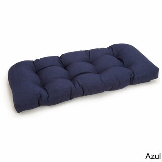 Blazing Needles All-Weather 42-inch Tufted Solid Bench Cushion