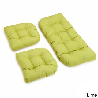 Blazing Needles All-Weather 3-Piece Bench Cushion Set (More options available)