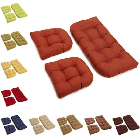 Blazing Needles All-Weather 3-Piece Bench Cushion Set