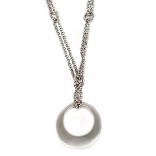 NEXTE Jewelry Silvertone or Goldtone Satin Finish Circle Necklace