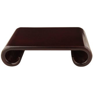 Handmade 9-inch Rosewood Scroll Stand (China)