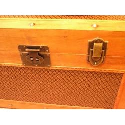 Tuscany Large Wood Steamer Treasure Chest Trunk - Thumbnail 2