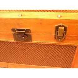 Tuscany Medium Wood Steamer Treasure Chest - Thumbnail 2