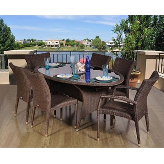 Atlantic Catania Oval 7-piece Dining Set