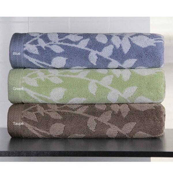 Martika Cotton Jacquard Floral 6-piece Towel Set