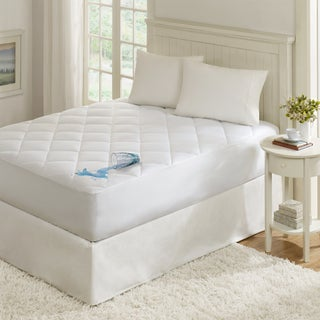 Madison Park Ensure 100-Percent Cotton Sateen Waterproof Diamond Quilting Down Alternative Mattress Pad (3 options available)