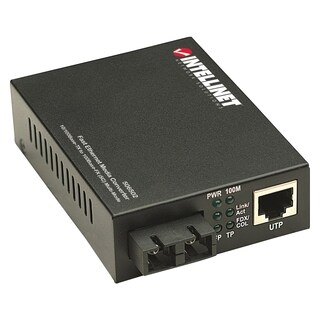 Intellinet 10/100 Multi-Mode Media Converter, SC, 1.24 miles