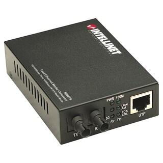 Intellinet 10/100 Multi-Mode Media Converter, ST, 1.24 miles