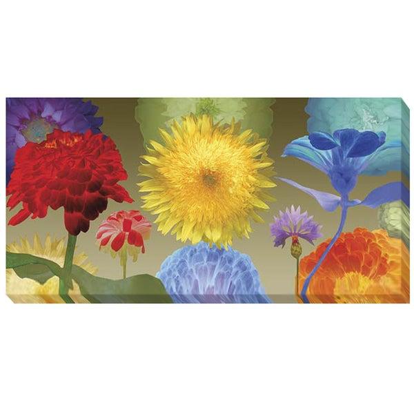 Robert Mertens 'Sunflower Fireworks' Canvas Art