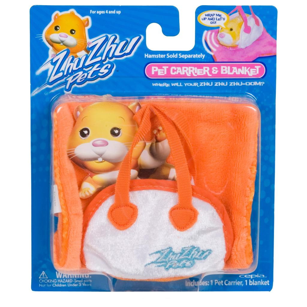 Cepia Zhu Zhu Pets Orange Hamster Carrier - Thumbnail 0