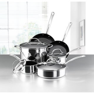 Farberware Millennium Nonstick Stainless Steel 10-piece Cookware Set