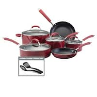 Farberware Millennium Colors Nonstick Aluminum 12-piece Red Cookware Set