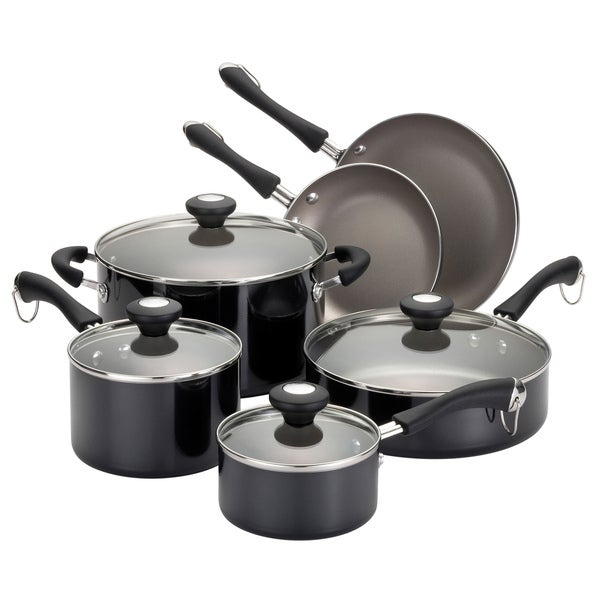Paula Deen Traditional Porcelain 10-piece Black Cookware Set