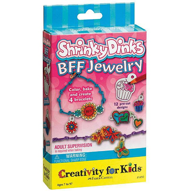 Creativity For Kids Shrinky Dinks BFF Jewelry Activity Kit