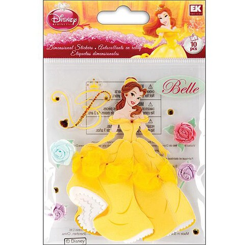 Disney Dimensional Beauty and the Beast Sticker Sheet