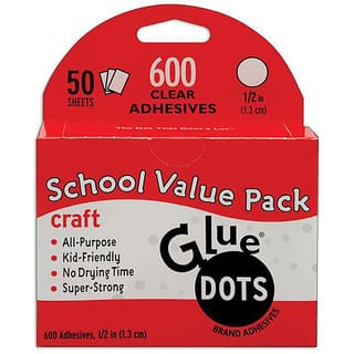 Glue Dots School Value Pack 0.5-inch Craft Dots (Case of 50 sheets)|https://ak1.ostkcdn.com/images/products/5747960/P13478930.jpg?impolicy=medium