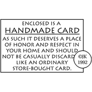 Judikins Handmade Card Stamp
