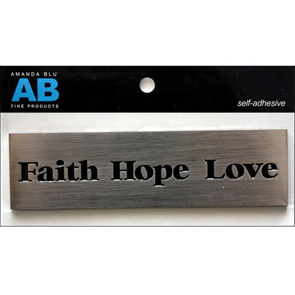 Amanda Blu 'Faith, Hope, Love' Metal Embellishment