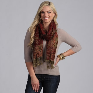 Link to Women's Maroon Paisley Viscose Wrap Similar Items in Scarves & Wraps