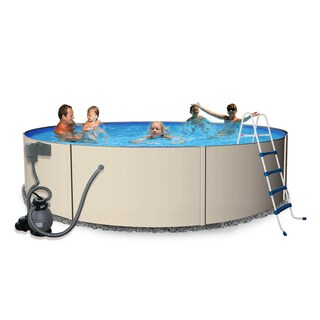 Blue Wave Round Rugged Steel Swimming Pool Package (4 options available)