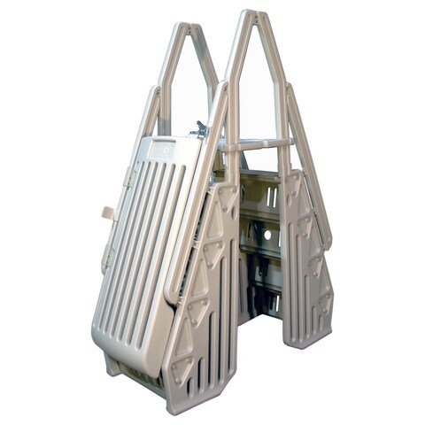 Vinyl Works Neptune A-Frame Entry System for Above Ground Pools - White