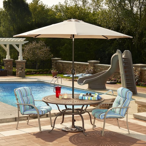 Mirage 9-ft Octagonal Market Umbrella - Auto-Tilt with Olefin Canopy