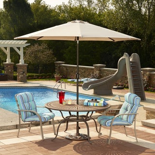 Mirage 9-ft Octagonal Market Umbrella w/ Auto-Tilt in Champagne Olefin
