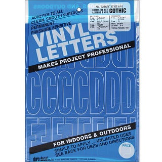 Duro Gothic/Blue Permanent Adhesive Vinyl Letters and Numbers