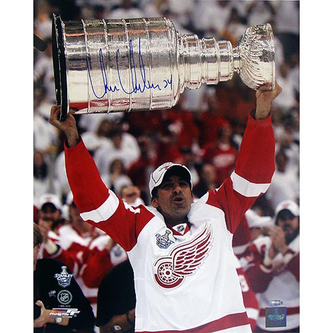 Steiner Sports Chris Chelios Red Wings Stanley Cup Overhead Signed Photo