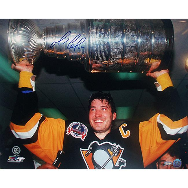 Steiner Sports Mario Lemieux Stanley Cup Overhead Autograph Photo